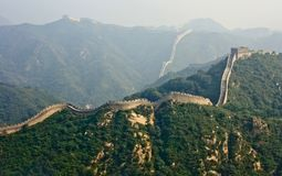 The Great Wall, a site Badaling. Royalty Free Stock Photo