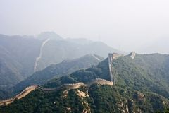 The Great Wall, a site Badaling. Stock Images