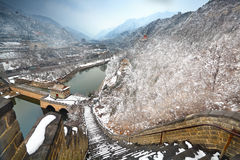 Great wall in snow Royalty Free Stock Photography