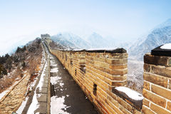 Great wall in snow Stock Image