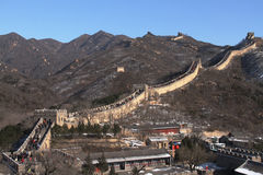 The Great Wall with snow left Royalty Free Stock Images