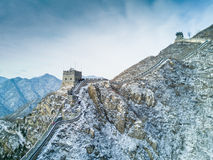 Great Wall. The snowy scenary of Juyongguan Great Wall stock image