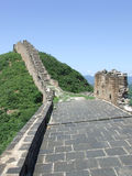 Great wall stair panorama at Jinshanling Stock Photo
