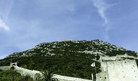 Great Wall of Ston - Ston, Dubrovnik - Neretva, Croatia. Great Wall of Ston - Ston, Dalmatia, Dubrovnik - Neretva, Croatia Royalty Free Stock Image