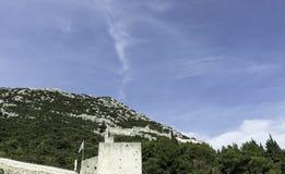 Great Wall of Ston - Ston, Dubrovnik - Neretva, Croatia. Great Wall of Ston - Ston, Dalmatia, Dubrovnik - Neretva, Croatia Royalty Free Stock Photography