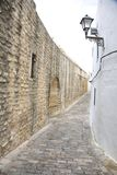 Great wall street at Vejer village Royalty Free Stock Photos