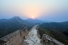Great wall sunrise Stock Image