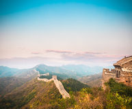 The great wall in sunset Stock Photography