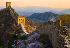 The great wall sunset Royalty Free Stock Images