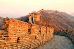 Great Wall sunset Royalty Free Stock Photography
