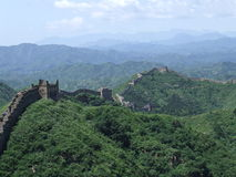 Great wall terrace panorama at Jinshanling Stock Photography