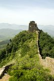 Great wall on top of a hill Stock Images