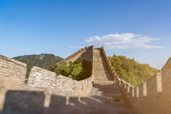 The Great Wall of the top of the mountain, China Royalty Free Stock Photos