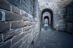 The Great Wall of the top of the mountain, China Stock Photos