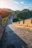 The Great Wall of the top of the mountain, China Stock Image