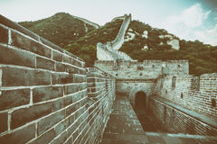 The Great Wall of the top of the mountain, China Royalty Free Stock Image