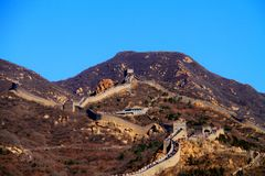 cloudless the great wall mutianyu stock photos
