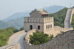 Great Wall Tower. This beautiful tower is high up the mountain on the Great Wall of China Royalty Free Stock Photo