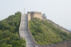 Great Wall Tower. This beautiful tower is high up the mountain on the Great Wall of China Stock Photo