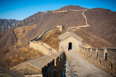 Great Wall tower high angle Royalty Free Stock Photos
