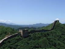 Great wall tower panorama at Jinshanling Royalty Free Stock Photography
