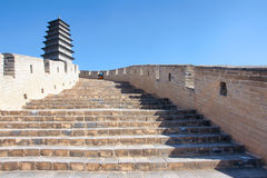 Great wall and turret Stock Photography