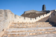 Great wall and turret Royalty Free Stock Image