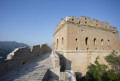 Great Wall under blue sky Stock Photography