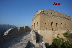 Great Wall under blue sky Royalty Free Stock Image