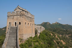 Great wall. View of great wall path Royalty Free Stock Photo