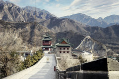 Great Wall and watchtower in Beijing Royalty Free Stock Photo