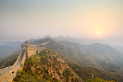 The great wall winding at sunrise Royalty Free Stock Photos