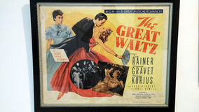 The great waltz poster Stock Image