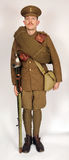 Great War cavalry soldier 1914. A Great War uniform as worn by British cavalry hussar soldiers fighting in 1914. This reconstruction represents a mounted Royalty Free Stock Photos
