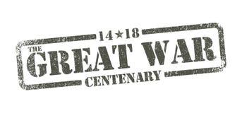 The Great War Centenary - inkpad. Vector illustration, The Great War Centenary in green army inkpad Stock Photography