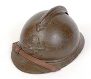 WW1 Great War French steel helmet Stock Photos