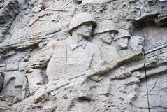 Great war`s scenes on the wall. Royalty Free Stock Photography