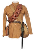 Great War soldier equipment royalty free stock image