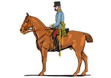 The Great War soldier on horseback Stock Image