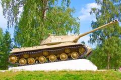 Great war tank memorial Stock Image