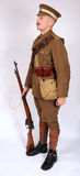 Great War yeomanry cavalry soldier 1914. A Great War uniform as worn by British yeomanry cavalry soldier fighting in 1914. This reconstruction represents a Stock Images