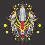 Great warrior gundam head stock illustration