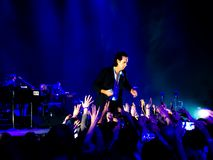 Nick Cave & The Bad Seeds in Concert in Vienna royalty free stock photos