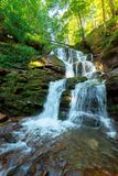 Great Water Fall In The Forest Stock Photos