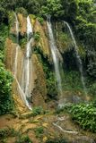 Waterfall in Cuba. Great Waterfall in Cuba, Trinidad Stock Images