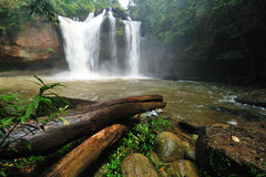 Great Waterfall In Thailand Stock Photos