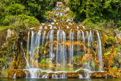 The Great Waterfall at the Royal Palace of Caserta stock photo