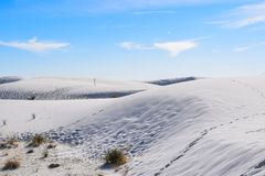 Amazing White Sands Desert in New Mexico, USA royalty free stock photos