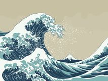 Free Great Wave Vector Illustration Stock Photography - 140359502