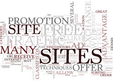 Great Ways To Increase Web Site Traffic Text Background  Word Cloud Concept Stock Photography